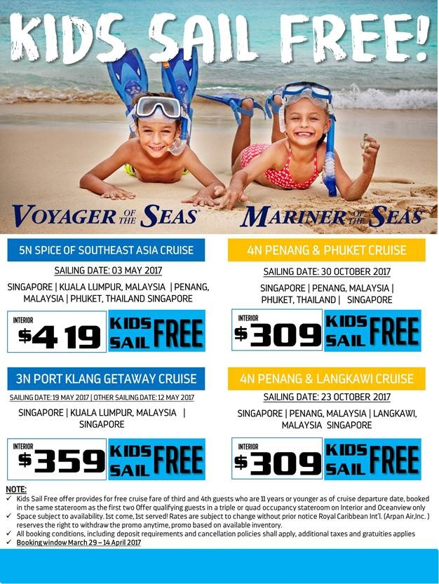 KIDS SAIL FREE VOYAGER OF THE SEAS MARINER OF THE SEAS - Kids sail free
